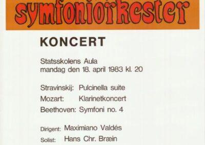 Plakat for Esbjerg Ensemble fra 1983