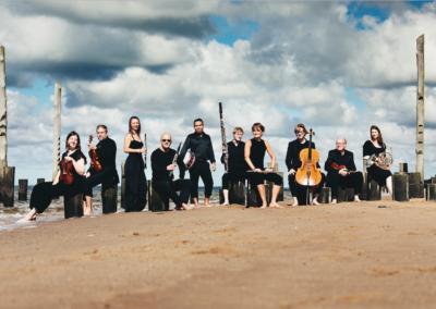 Klassisk kammermusik på stranden