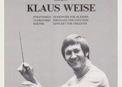 Plakat for Esbjerg Ensemble fra 1982